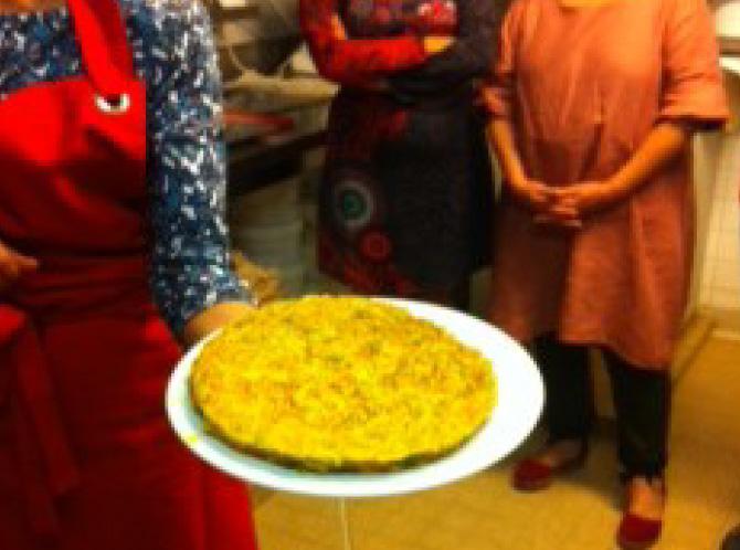 Galette de légumes parfumés au curry et gingembre