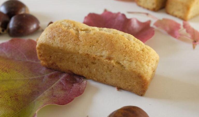 Petits cakes à la farine de châtaigne et aux pommes patte de loup